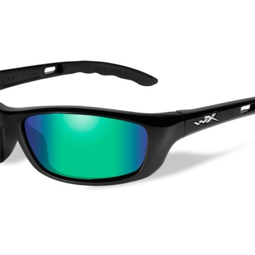 01a1e6d680 Wiley X P-17 POL Emerald Lens Gloss Black Frame
